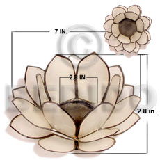 Natural capiz natural white lotus Gifts & Home Table Decor Set