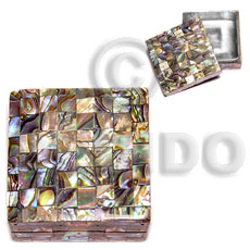 hand made Stainless square metal casing Gifts & Home Table Decor Set