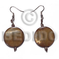Dangling 28mm Round Laminated Golden