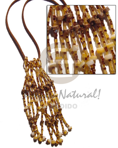 Coco goldlip heishe Glass Beads Necklace