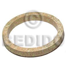 h=10mm thickness=8mm inner diameter=65mm nat. wood bangle in marbled texture brush paint light tan  creme and green splashing - Hand Painted Bangles