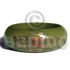 Early spring tone embossed Hand Painted Bangles