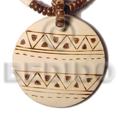 50mm round coco pendant Hand Painted Pendants