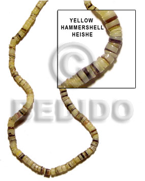 4-5mm hammer shell heishe yellow Heishe Shell Beads