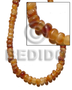 hand made Golden horn thin nuggets Horn Beads