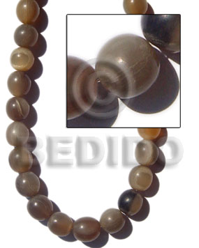 Natural horn . round beads Horn Beads