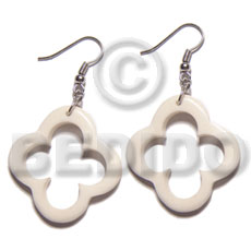 Dangling 40mm carabao bone Horn Earrings