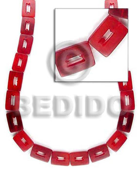 Red 25mmx18mm Rectangular Horn