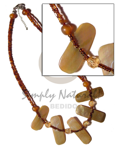 2 layer brown glass beads