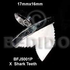Encasted x shark teeth pendant Horn Pendant Bone Pendants
