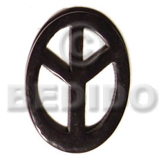 Horn peace sign 45mm Horn Pendant Bone Pendants