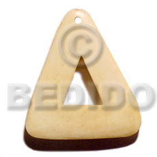 40mm triangle natural white bone Horn Pendant Bone Pendants