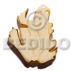 40mm frog natural white bone Horn Pendant Bone Pendants