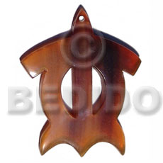 50mmx45mm flat golden amber turtle Horn Pendant Bone Pendants