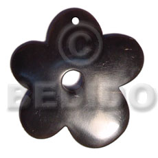 70mm flower black horn Horn Pendant Bone Pendants