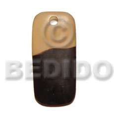 Rectangular transparent black horn 35mm Horn Pendants