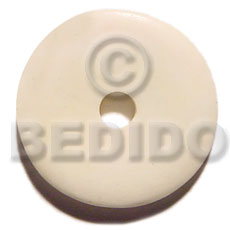 40mm round white bone Horn Pendants