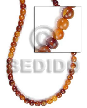 Golden horn beads 8mm Horn Round Beads