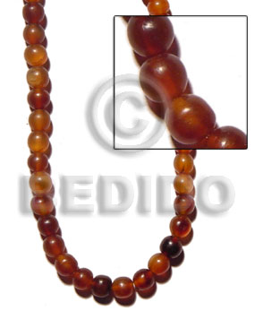 Amber golden horn beads 10mm Horn Round Beads