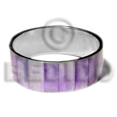 Laminated lavender hammershell in 1 Inlaid Metal Bangles