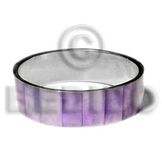 Laminated lavender hammershell in 3 4 Inlaid Metal Bangles