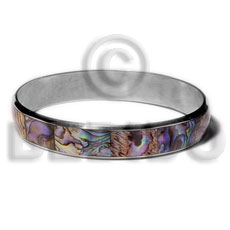 Laminated paua in 1 2 Inlaid Metal Bangles