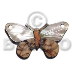 Shell Inlaid Butterfly