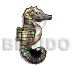 Shell inlaid seahorse Inlaid Pendants