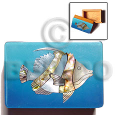 Wooden Jewelry Box Blue