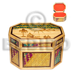 Bamboo Pandan Jewelry Box