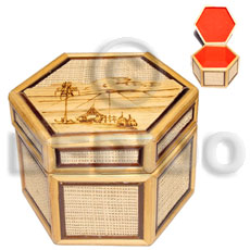 Bamboo Raffia Jewelry Box