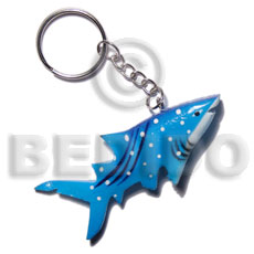 Shark handpainted wood keychain 75mmx35mm Keychain