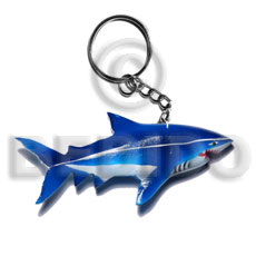 hand made Shark handpainted wood keychain 110mmx50mm Keychain