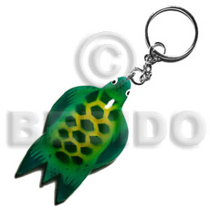 Sea turtle handpainted wood keychain Keychain