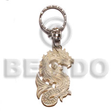 40mm carved mop shell keychain dragon Keychain