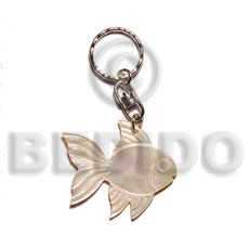 40mm carved mop shell keychain fish Keychain