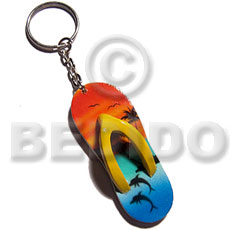 60mmx27mm colorful beach slippers Keychain