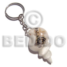 45mmx28mm white seashell resin Keychain