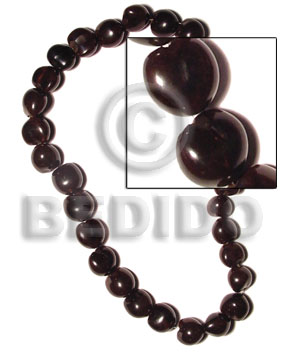 hand made Lumbang kukui nuts black Kukui Lumbang Nuts Beads