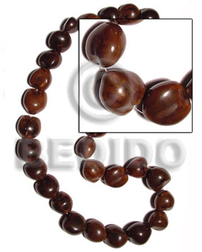 Brown lumbang seeds kukui Kukui Lumbang Nuts Beads