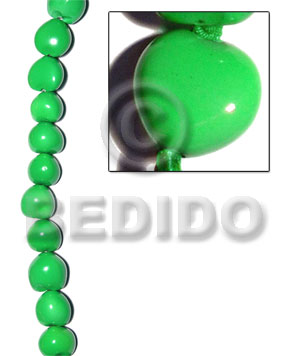 hand made Kukui seed bright green Kukui Lumbang Nuts Beads
