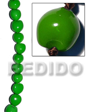 hand made Kukui seed forest green Kukui Lumbang Nuts Beads