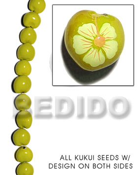 Kukui seed yellow Kukui Lumbang Nuts Beads