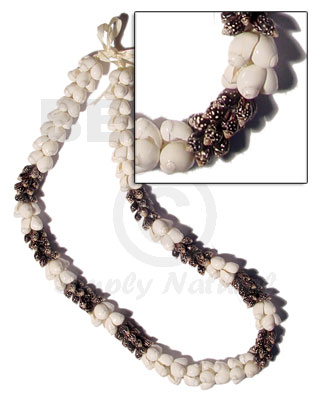 hand made Shell lei - moon Leis
