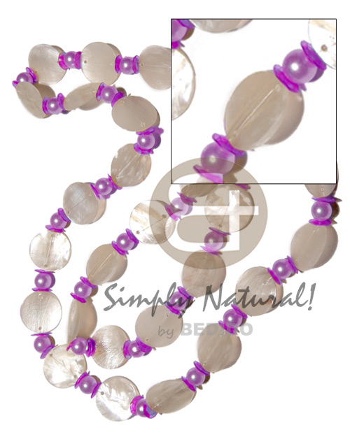 27 pcs. single row 25mm Long Endless Necklace