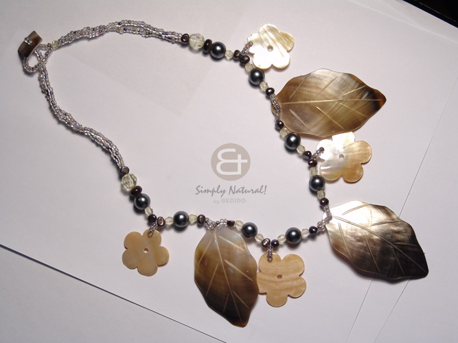 2 layers glass beads Long Endless Necklace