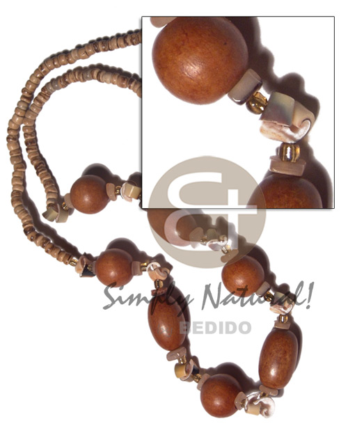 4-5mm natural coco pokalet tiger Long Endless Necklace