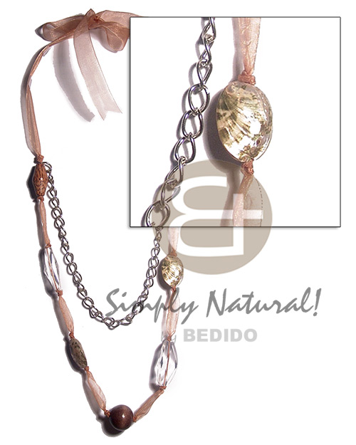 2 pcs. philippine abalone 2pcs Long Endless Necklace