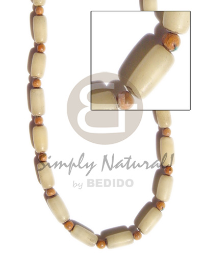 Buri seed wood beads Mens Necklace
