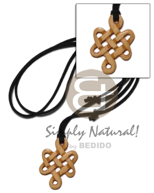 Celtic knot antique carabao natural Mens Necklace